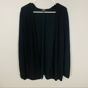 Lucky Brand Black Cardigan with Semi Sheer Back